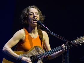 Ani DiFranco with Gracie and Rachel