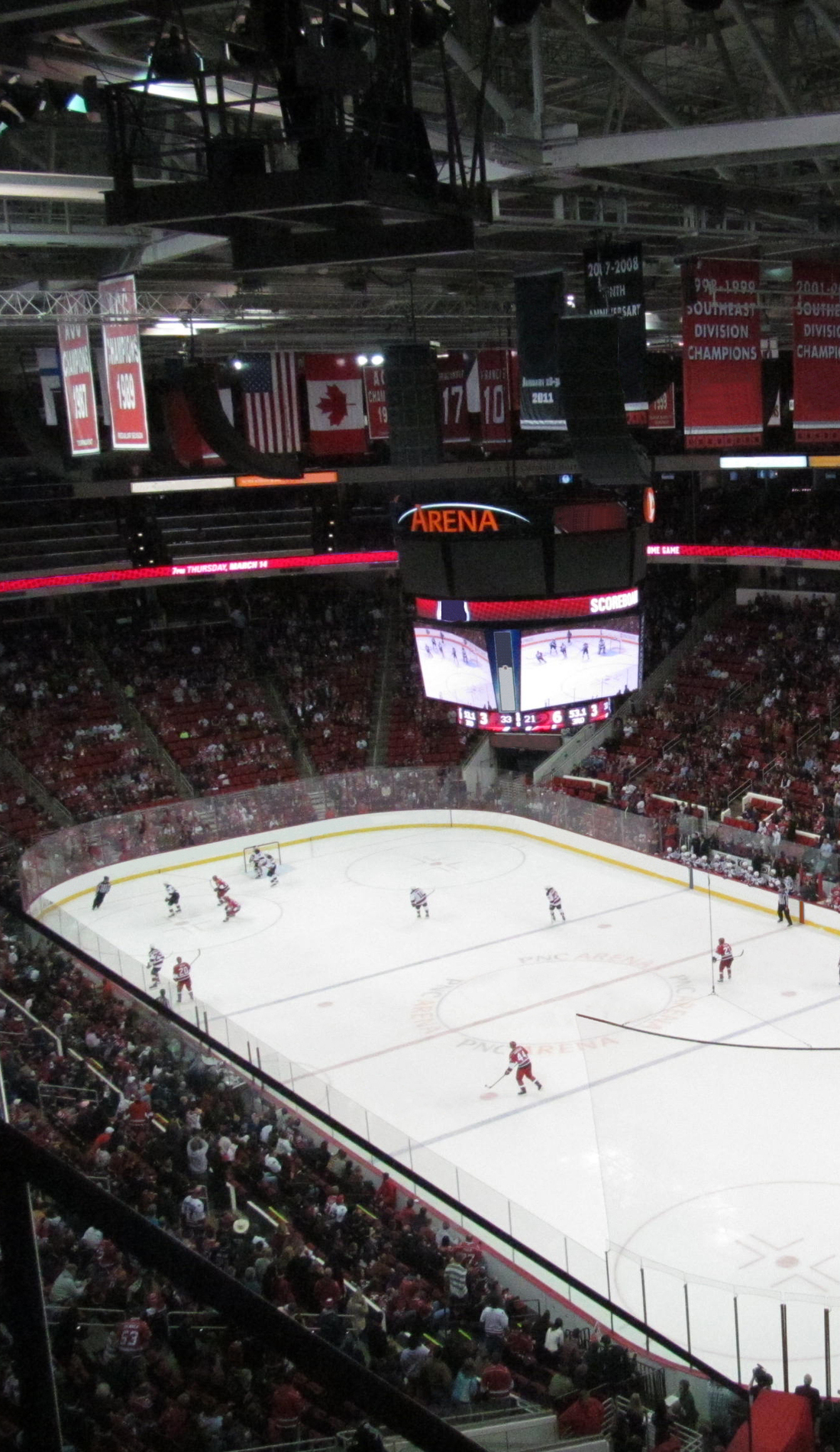 A Carolina Hurricanes live event