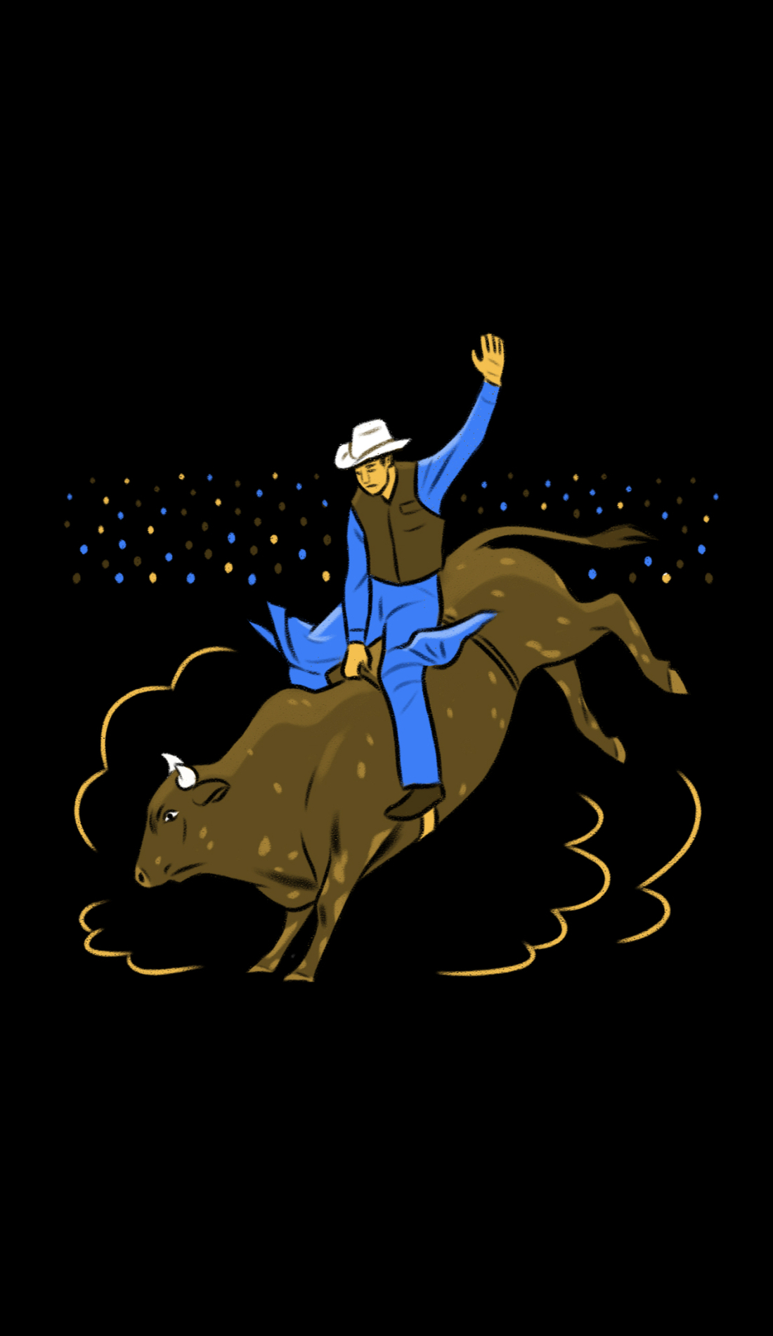 A Cheyenne Frontier Days Rodeo live event
