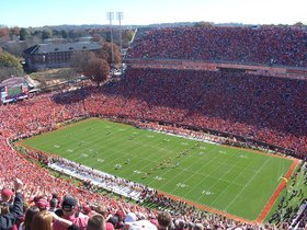 South Carolina Gamecocks at Clemson Tigers Football