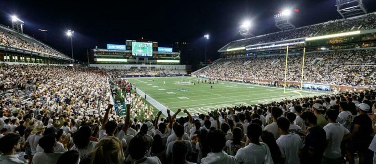 Georgia Tech Yellow Jackets Football Seating Chart Map Seatgeek