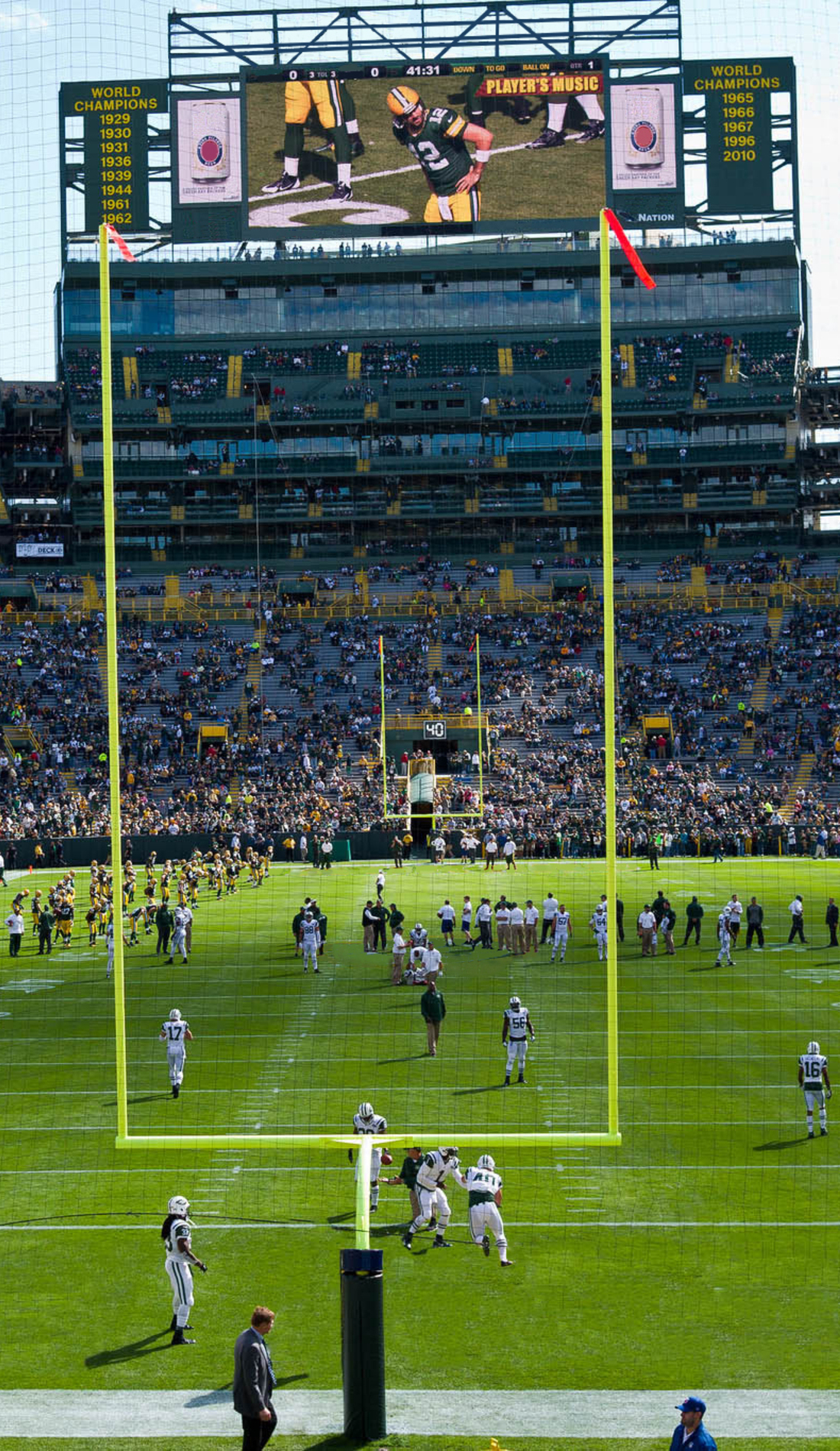 A Green Bay Packers live event