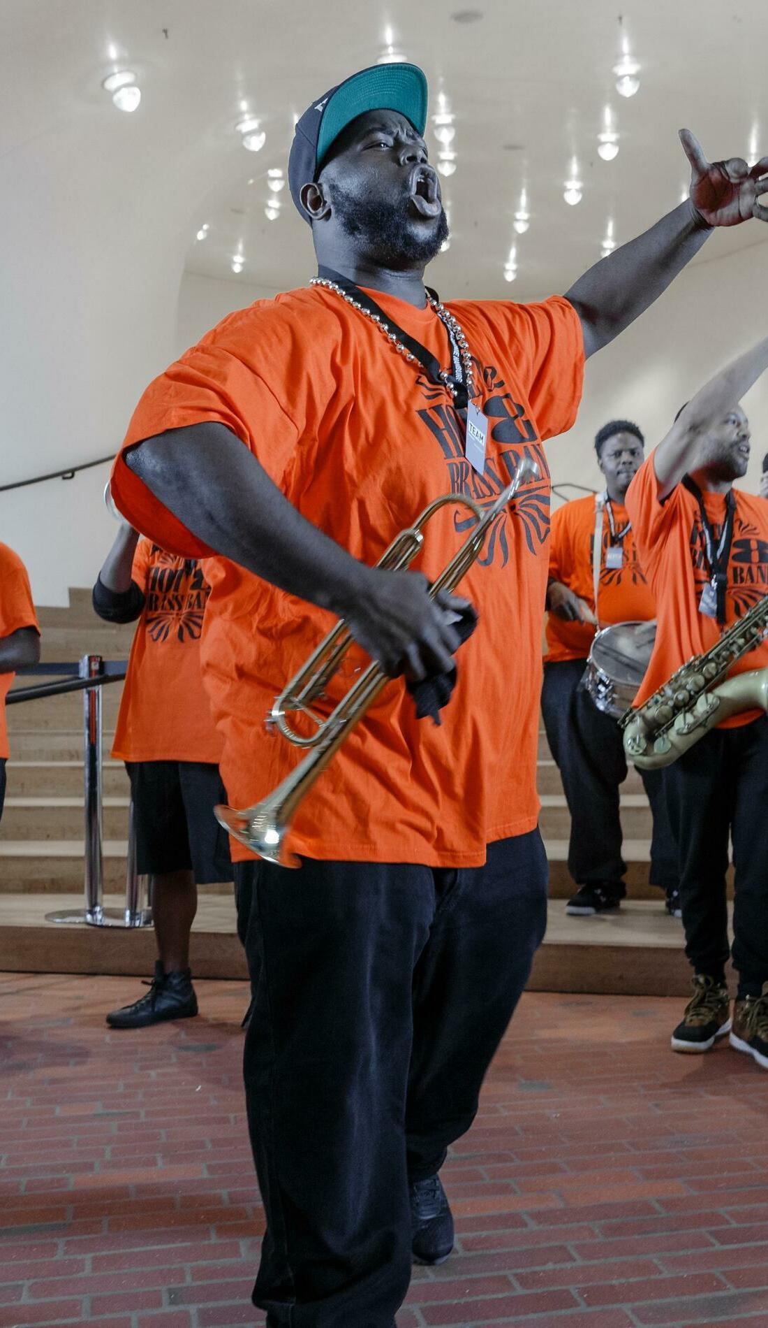 A Hot 8 Brass Band live event