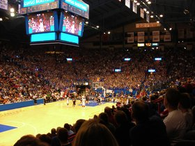 West Virginia Mountaineers at Kansas Jayhawks Basketball