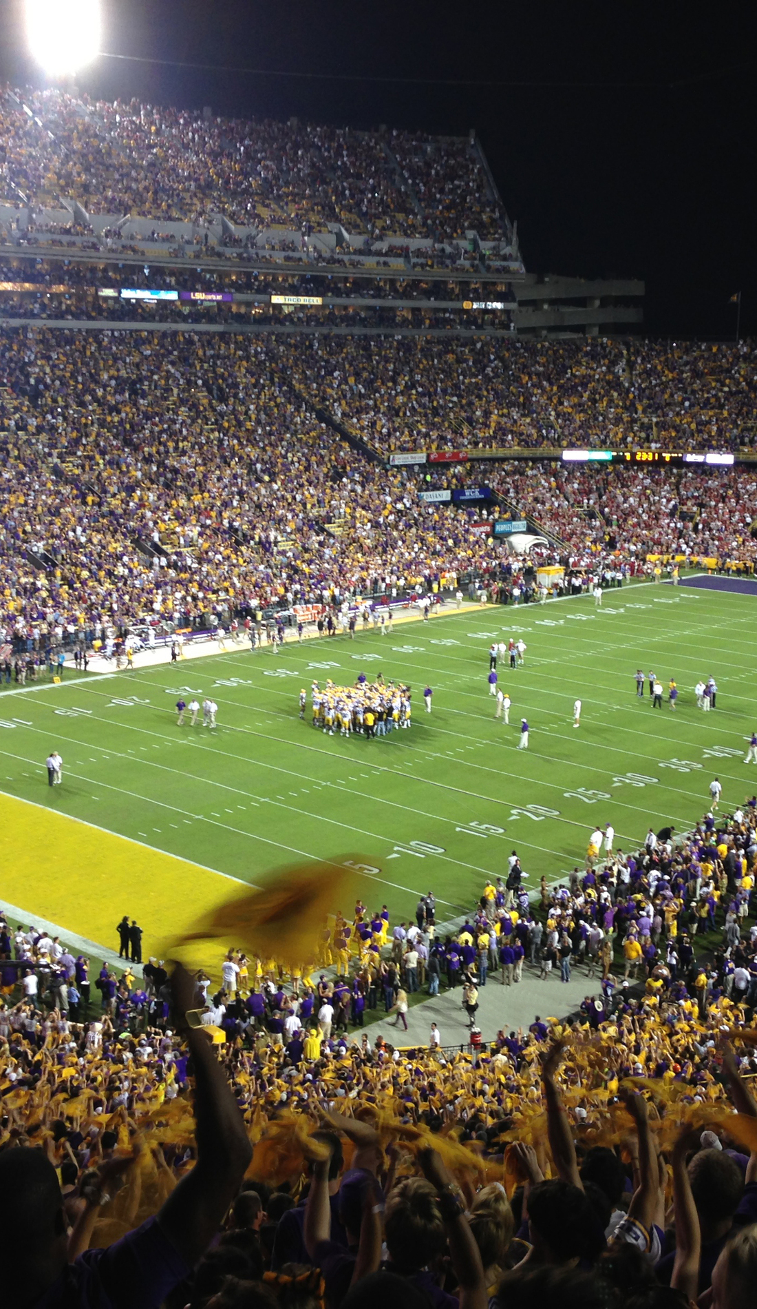 A LSU Tigers Football live event