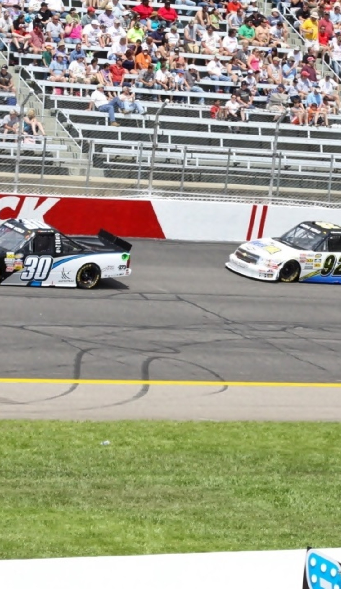A NASCAR Camping World Truck Series live event