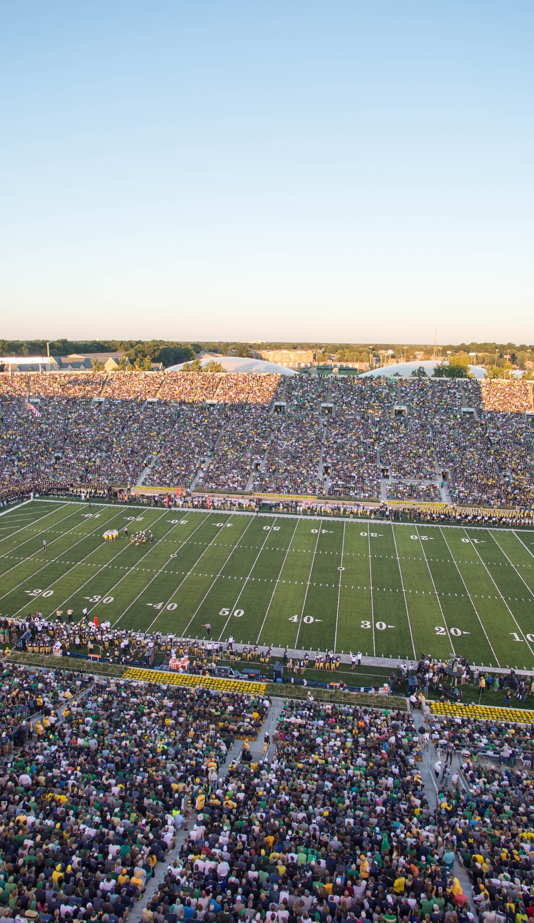 A Notre Dame Fighting Irish Football live event