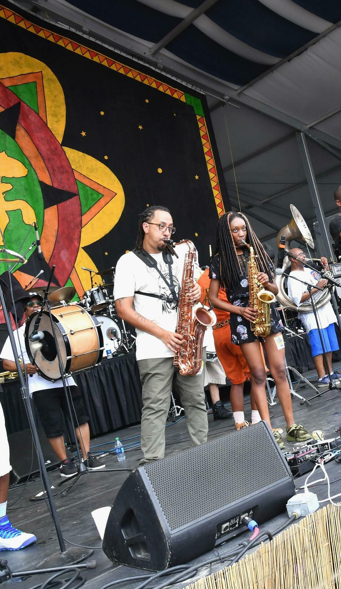 A Rebirth Brass Band live event