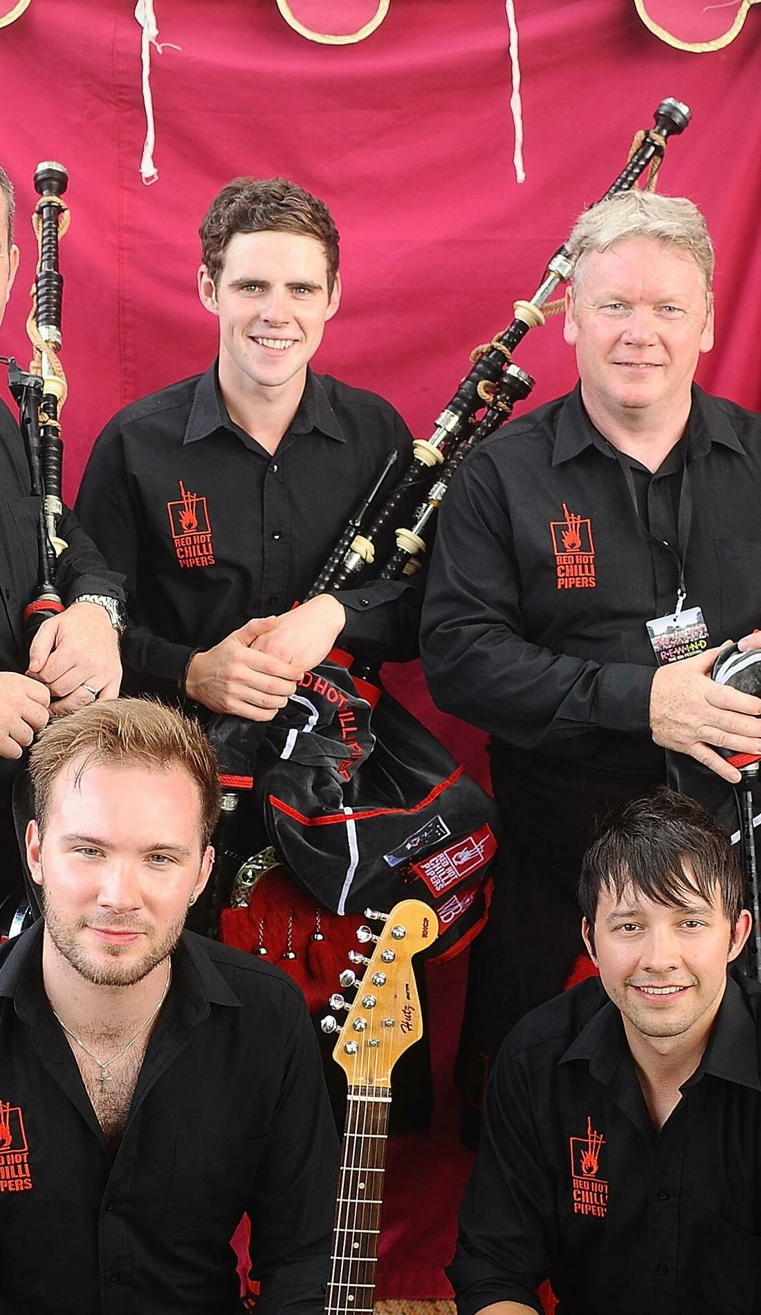 A Red Hot Chilli Pipers live event