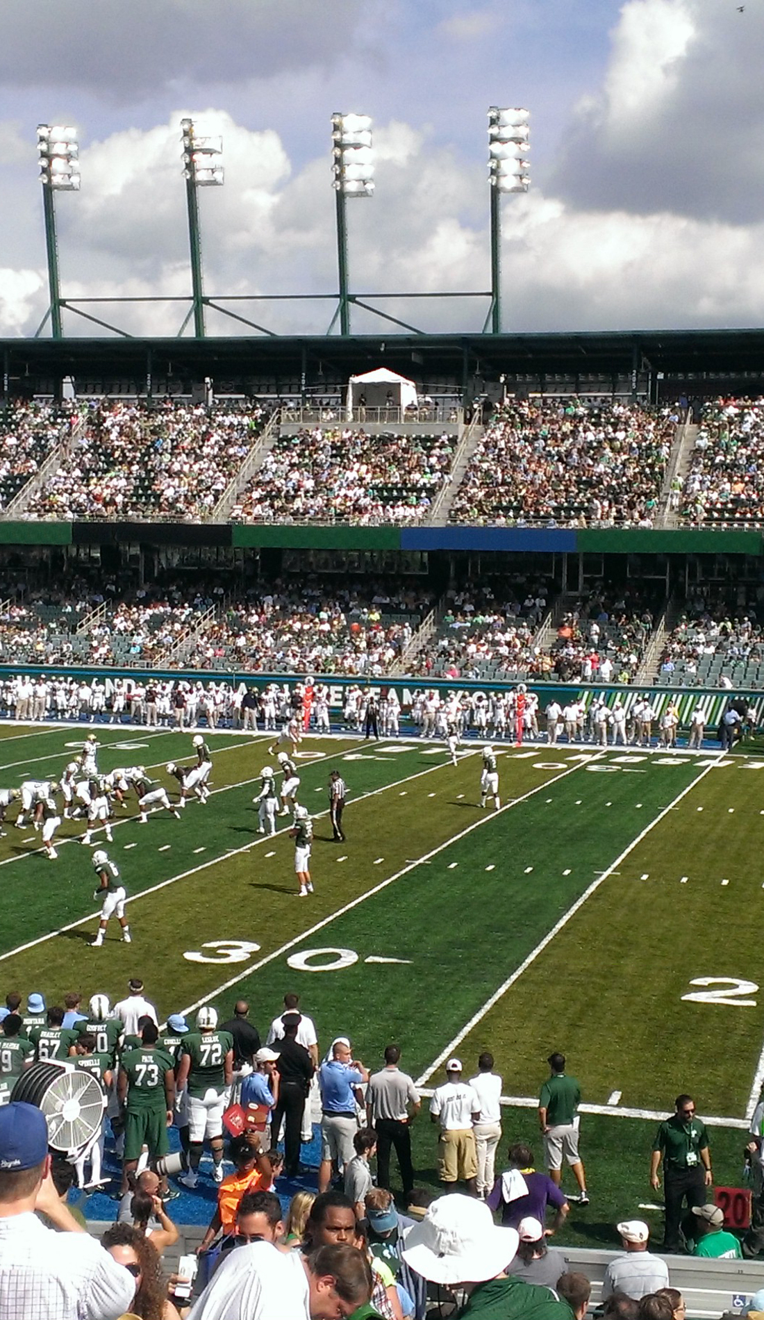 A Tulane Green Wave Football live event