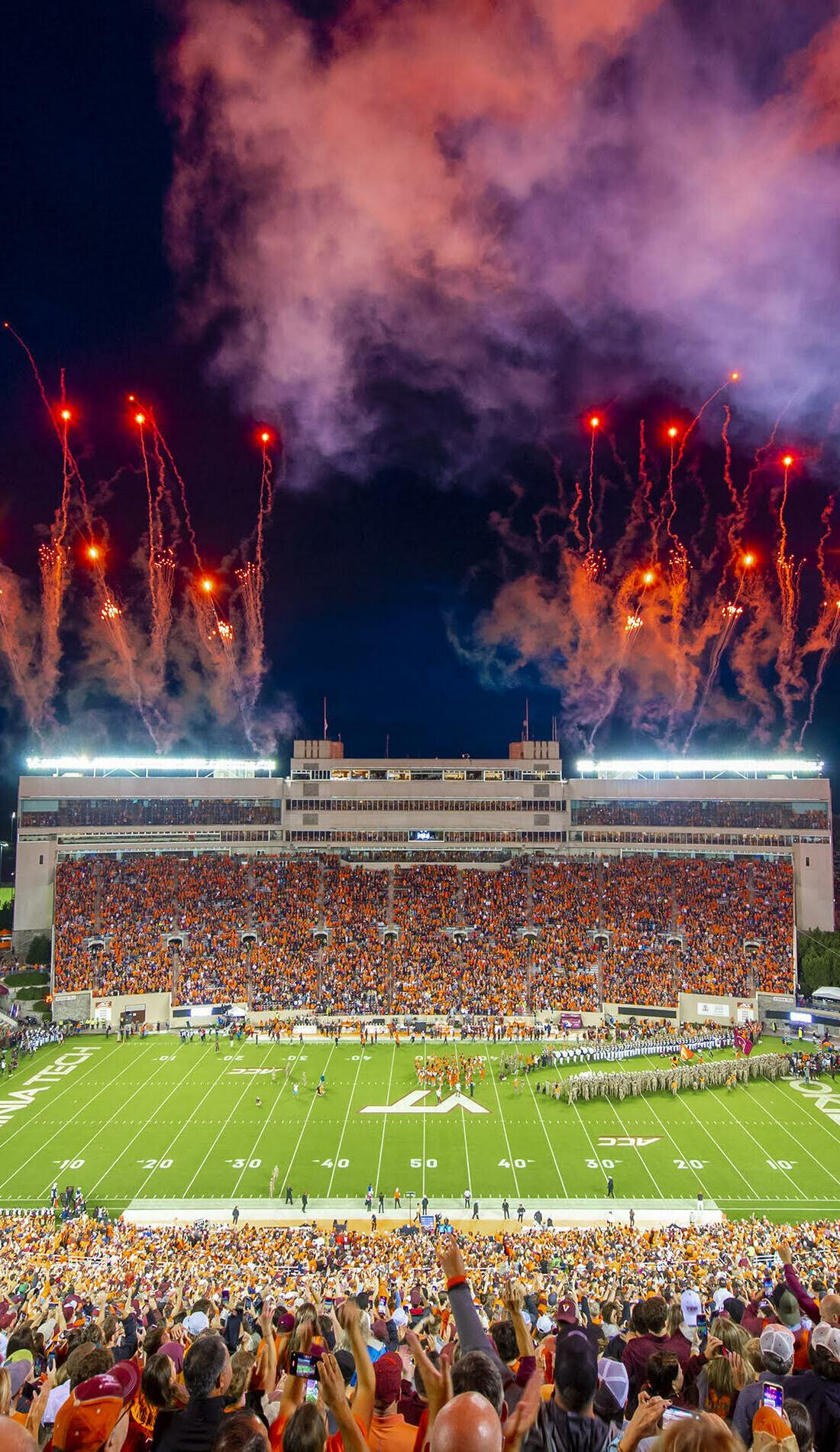 A Virginia Tech Hokies Football live event