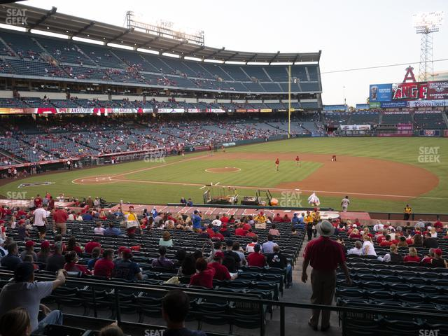 Angel Stadium of Anaheim Section 224 view