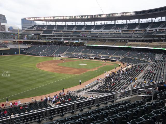 Target Field Section Deck U view