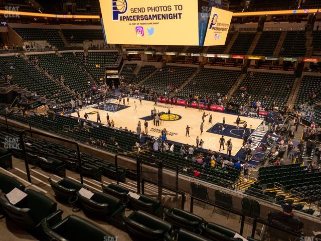 Bankers Life Fieldhouse Section 115 view