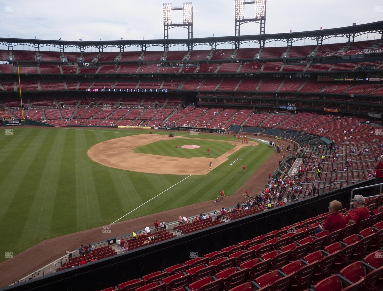 St. Louis Cardinals at Busch Stadium Left Field Loge 267 View