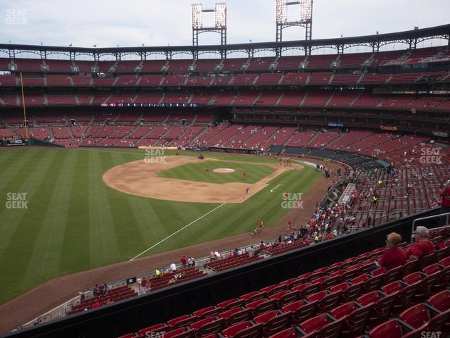 Busch Stadium Left Field Loge 267 view