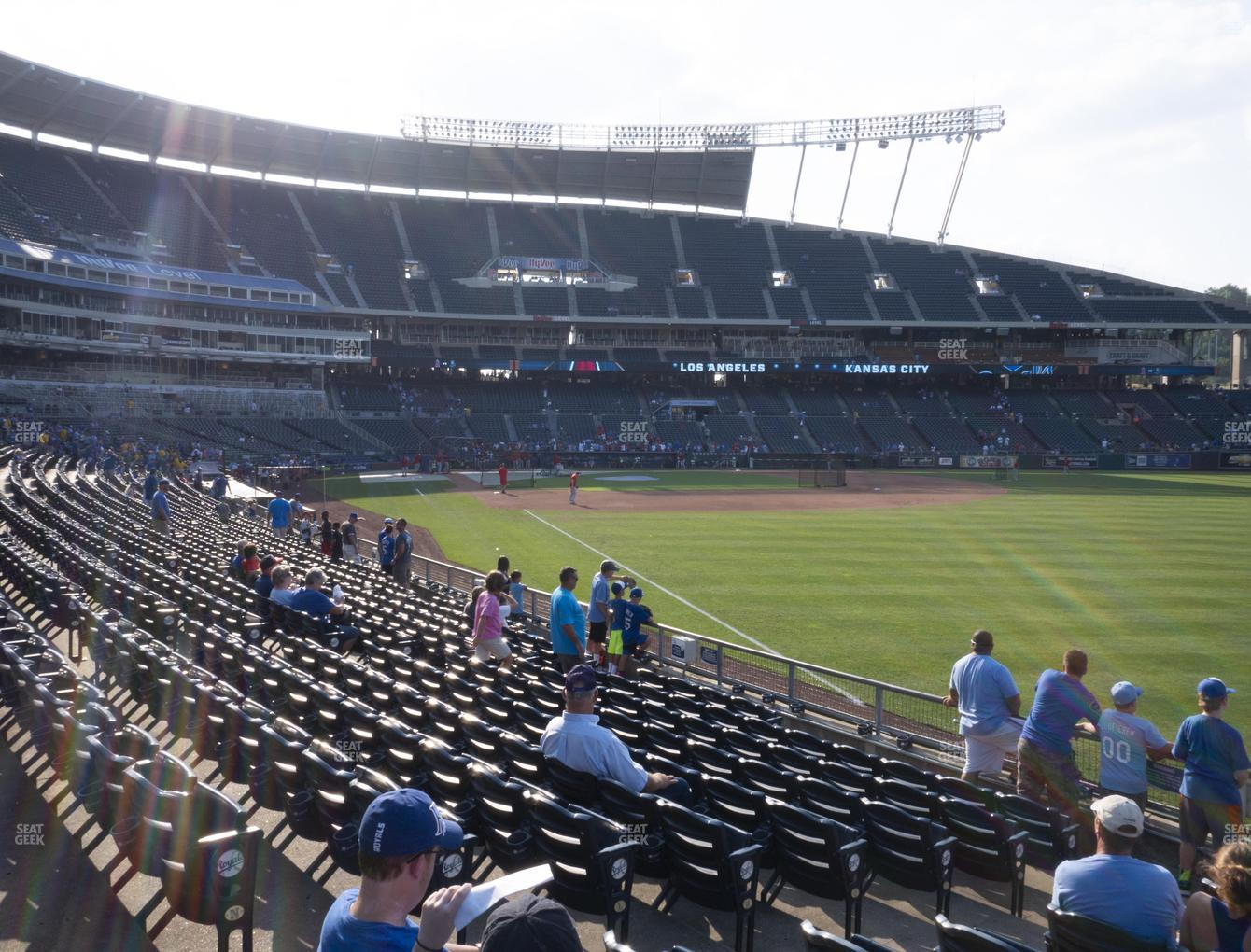 Kansas City Royals at Kauffman Stadium Section 146 View