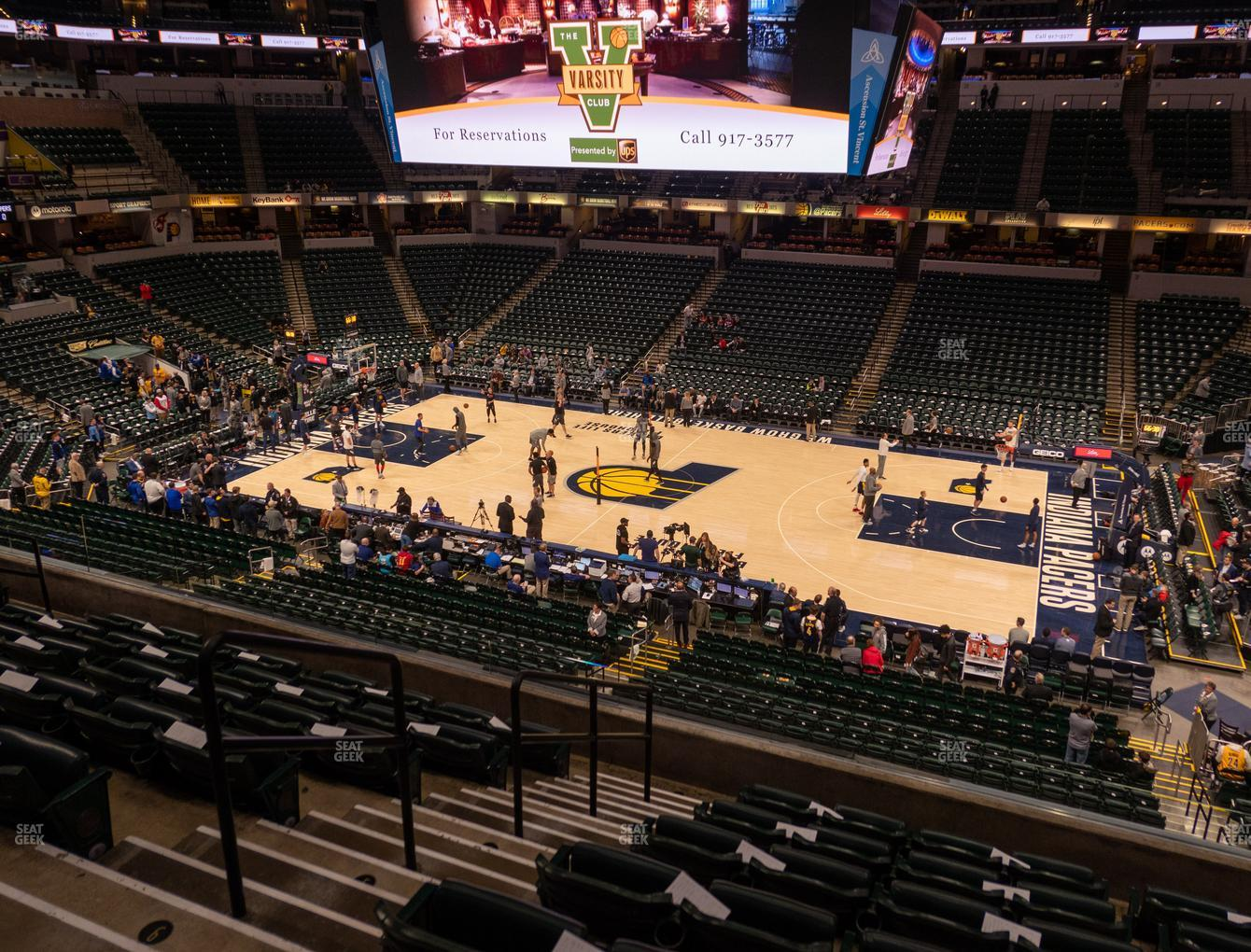 Indiana Pacers at Bankers Life Fieldhouse Section 103 View