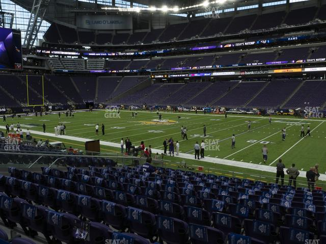 U.S. Bank Stadium Section 129 view