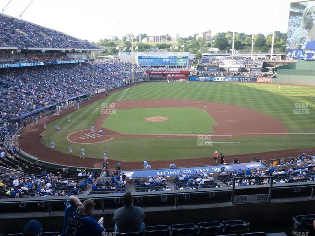 Kauffman Stadium Section 314 view