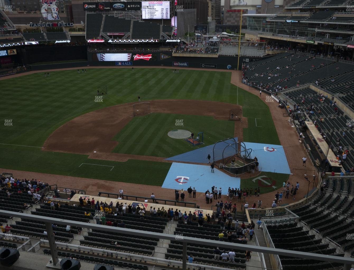 Minnesota Twins at Target Field Section 219 View