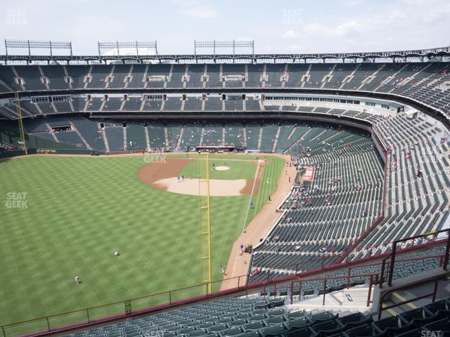 Globe Life Park Section 307 view