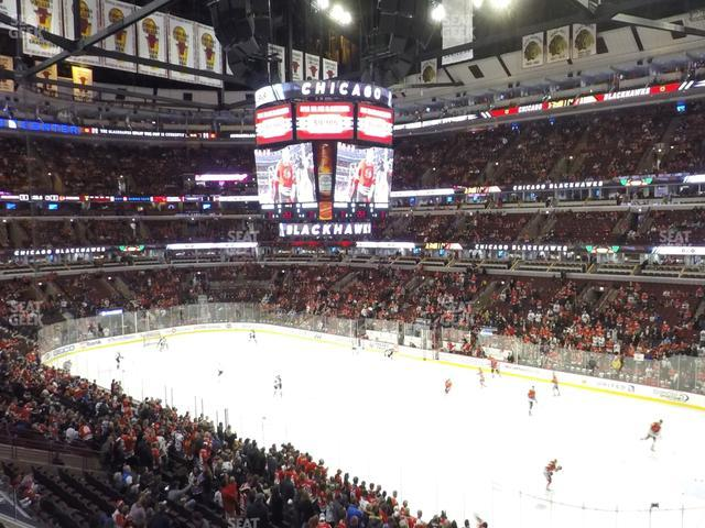 United Center Section 214 view