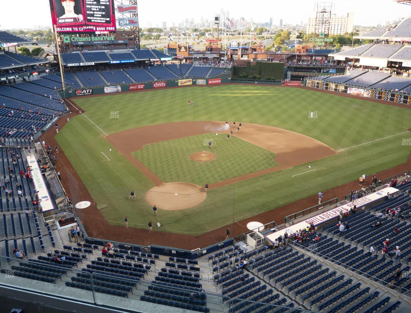 Philadelphia Phillies at Citizens Bank Park Section 319 View