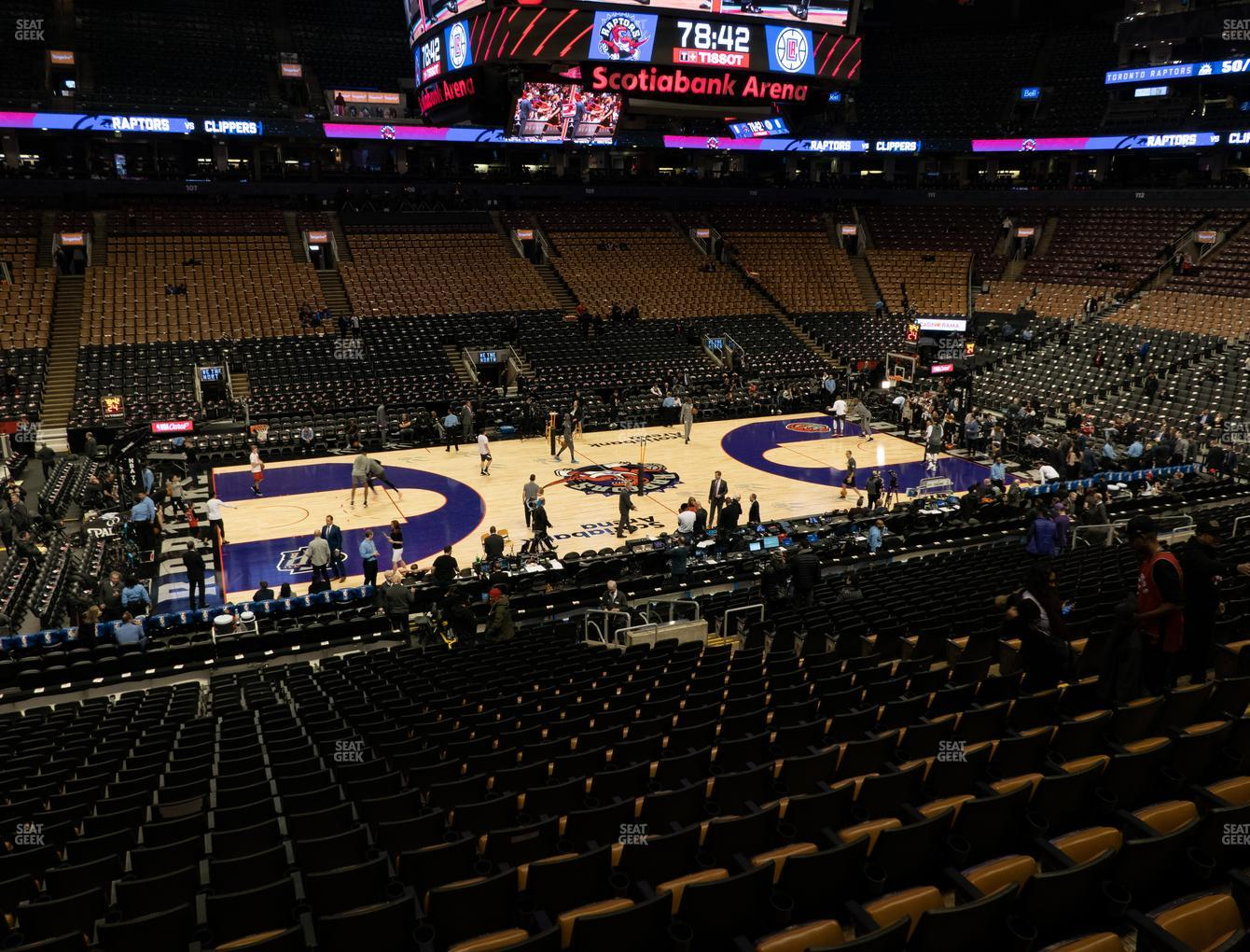 Toronto Raptors at Scotiabank Arena Section 120 View