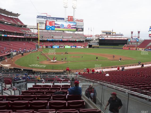 Great American Ball Park Section 126 view