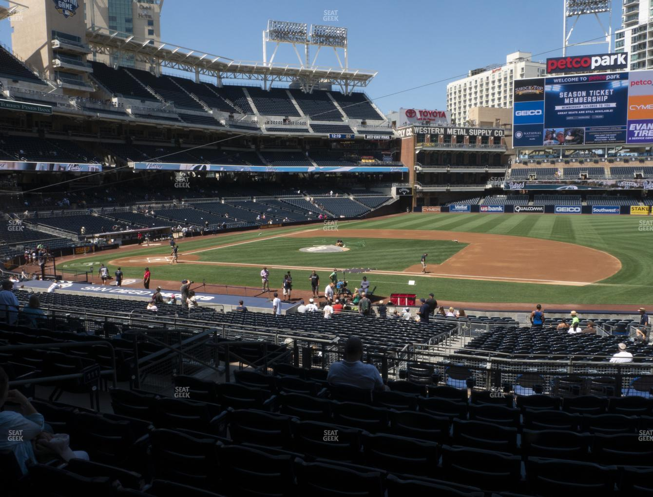 MLB at Petco Park Section 111 View