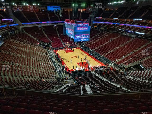 Toyota Center Section 420 view