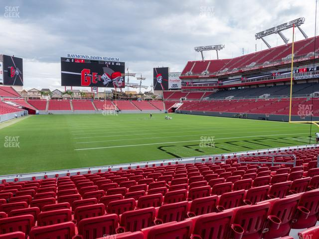 Raymond James Stadium Section 121 view