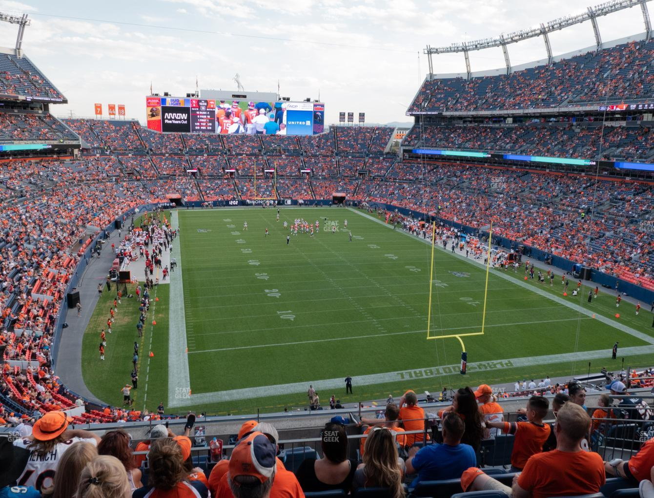 Denver Broncos at Empower FIeld at Mile High Section 325 View