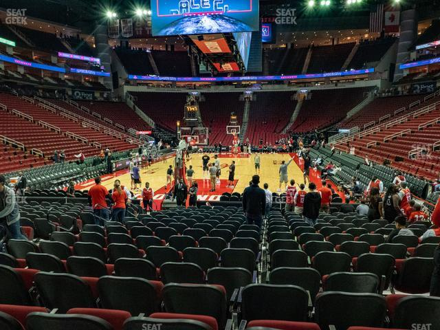 Toyota Center Section 113 view