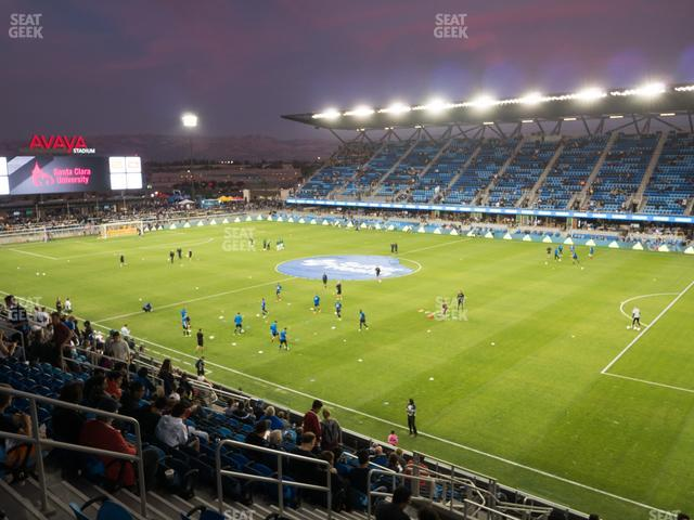 Earthquakes Stadium Section 111 view