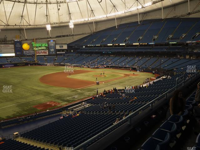 Tropicana Field Section 219 view