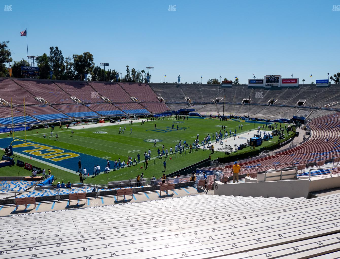 UCLA Bruins Football at Rose Bowl Upper 15 L View