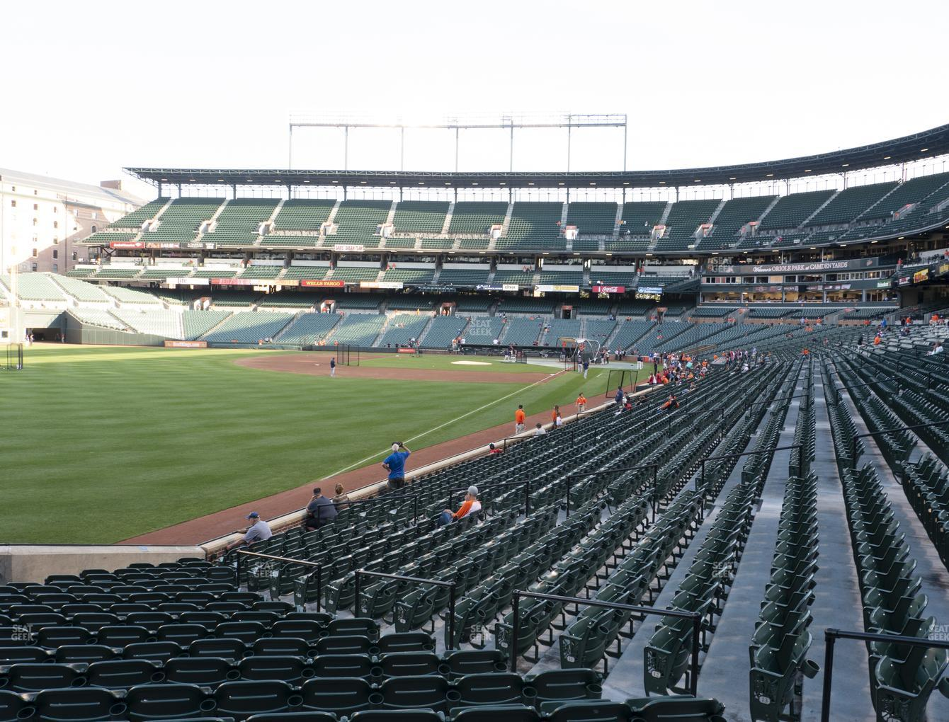 Baltimore Orioles at Oriole Park at Camden Yards Section 72 View