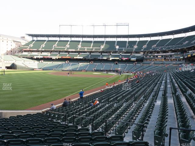Oriole Park at Camden Yards Section 72 view