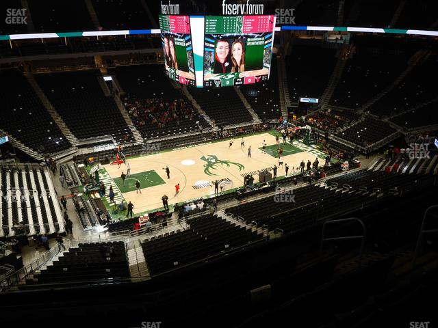 Fiserv Forum Section 224 view