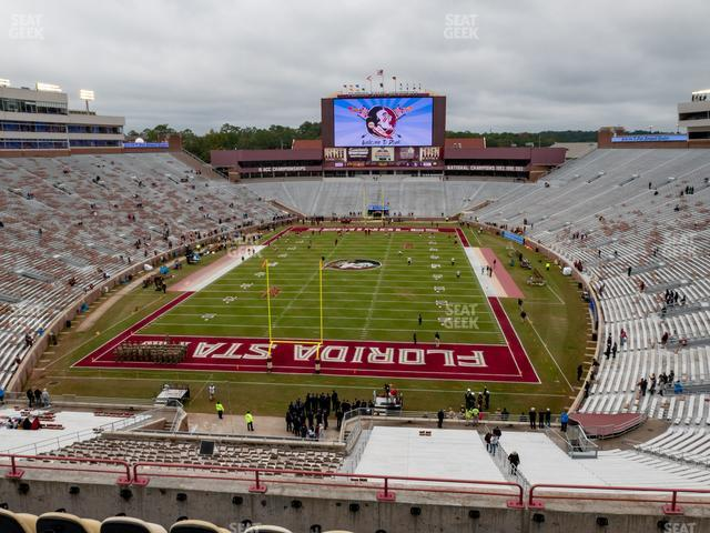 Doak Campbell Stadium Section Club 320 view