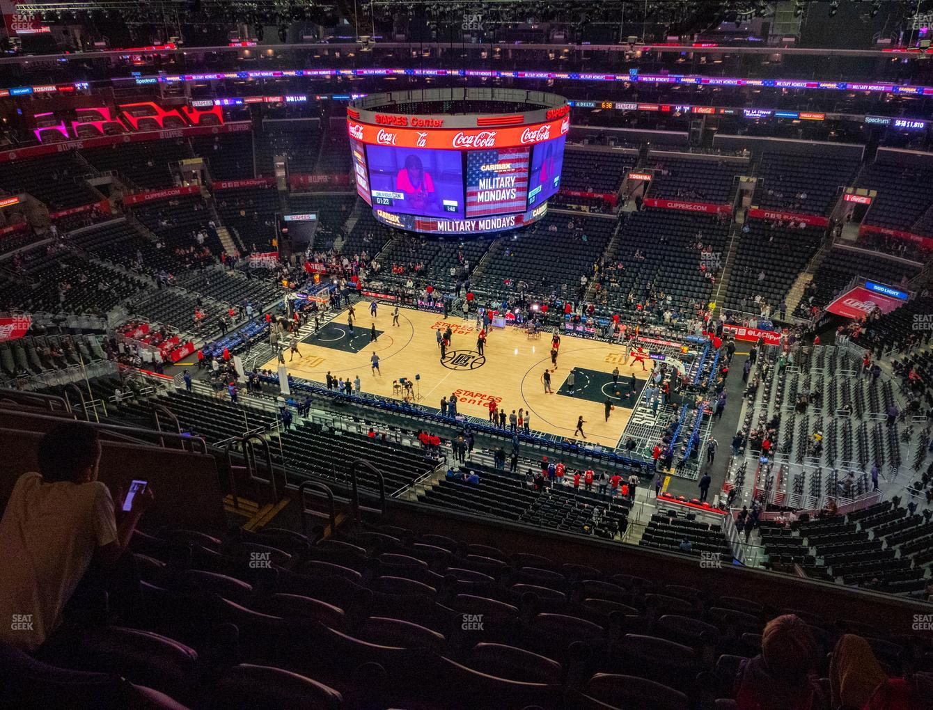 Los Angeles Lakers at Staples Center Section 316 View
