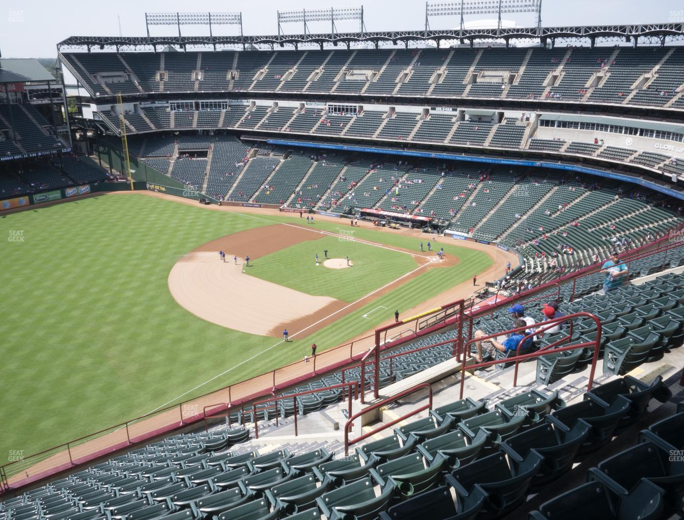 NHL at Globe Life Park Section 313 View