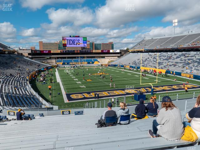 Mountaineer Field at Milan Puskar Stadium Section 133 view