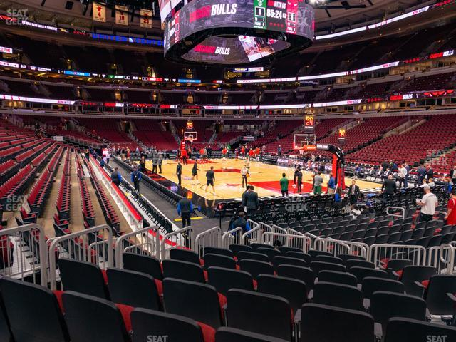 United Center Section 108 view