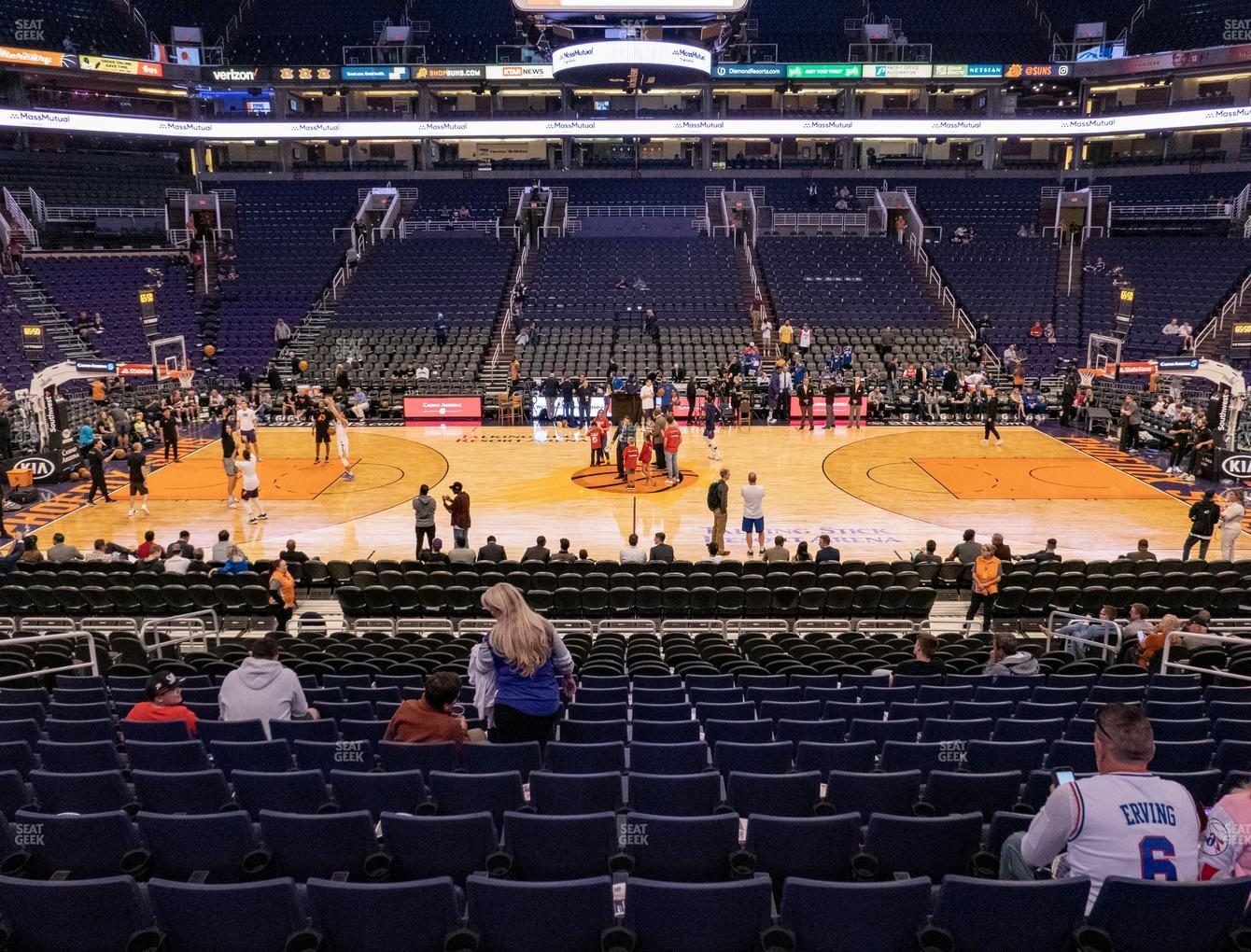 Phoenix Suns at Talking Stick Resort Arena Section 114 View