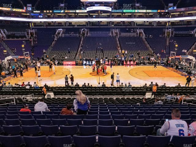 Phoenix Suns Arena Section 114 view