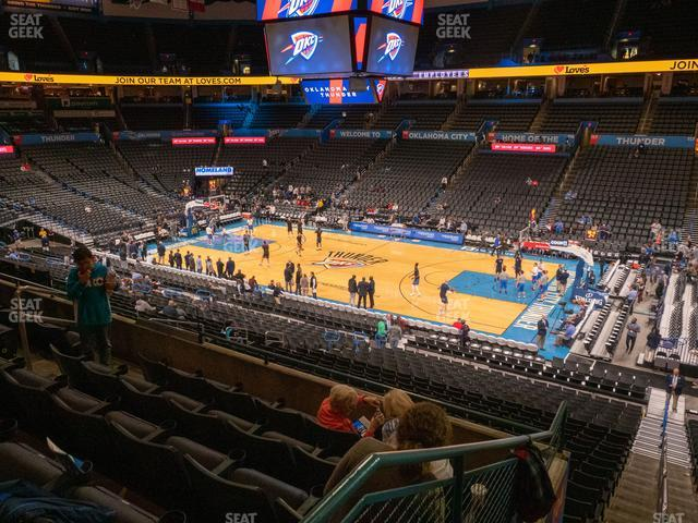Chesapeake Energy Arena Section 206 view