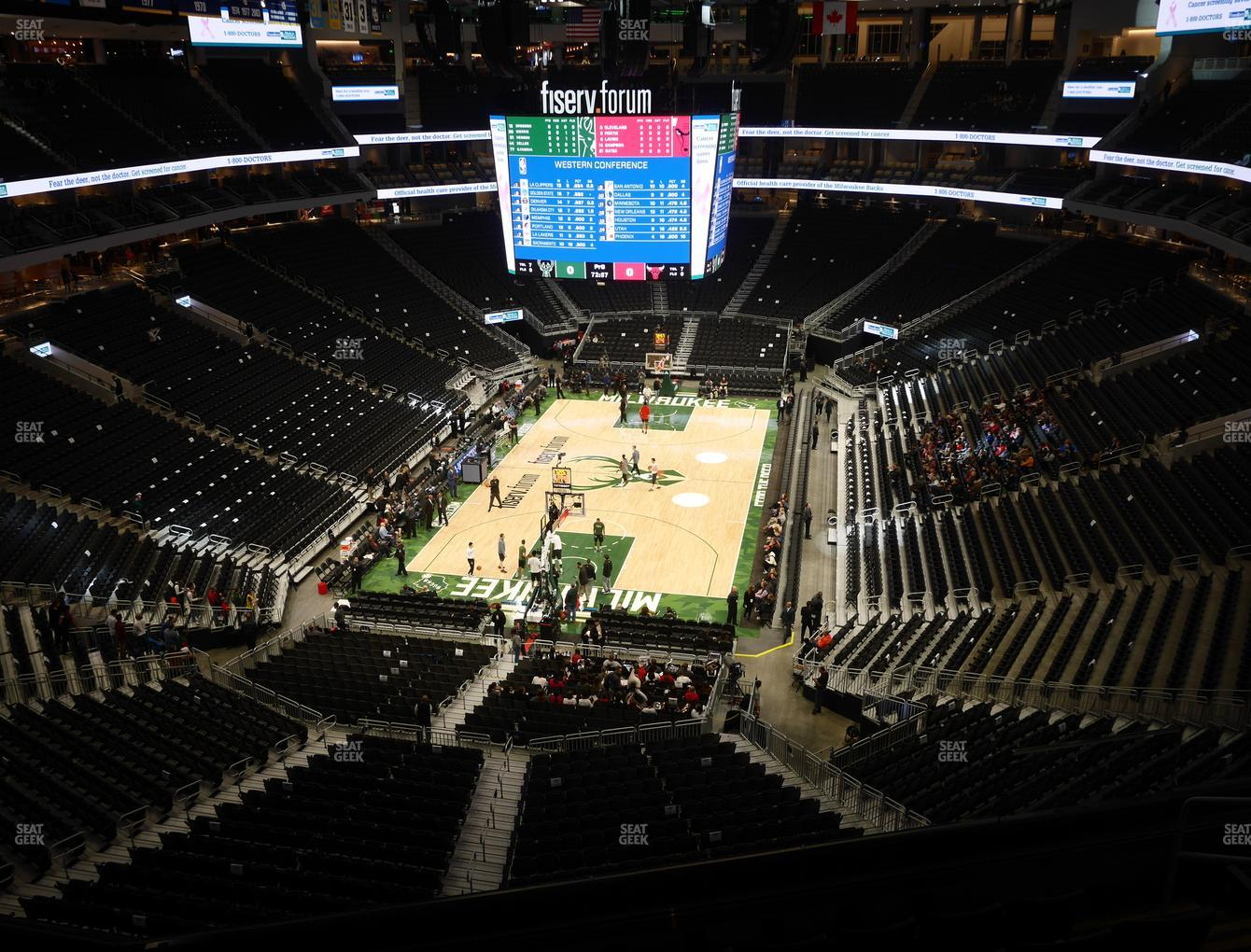 Milwaukee Bucks at Fiserv Forum Section 214 View